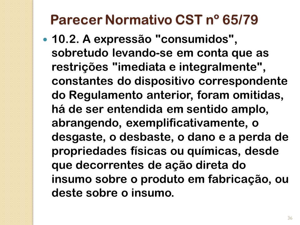 Parecer Normativo CST nº 65/79