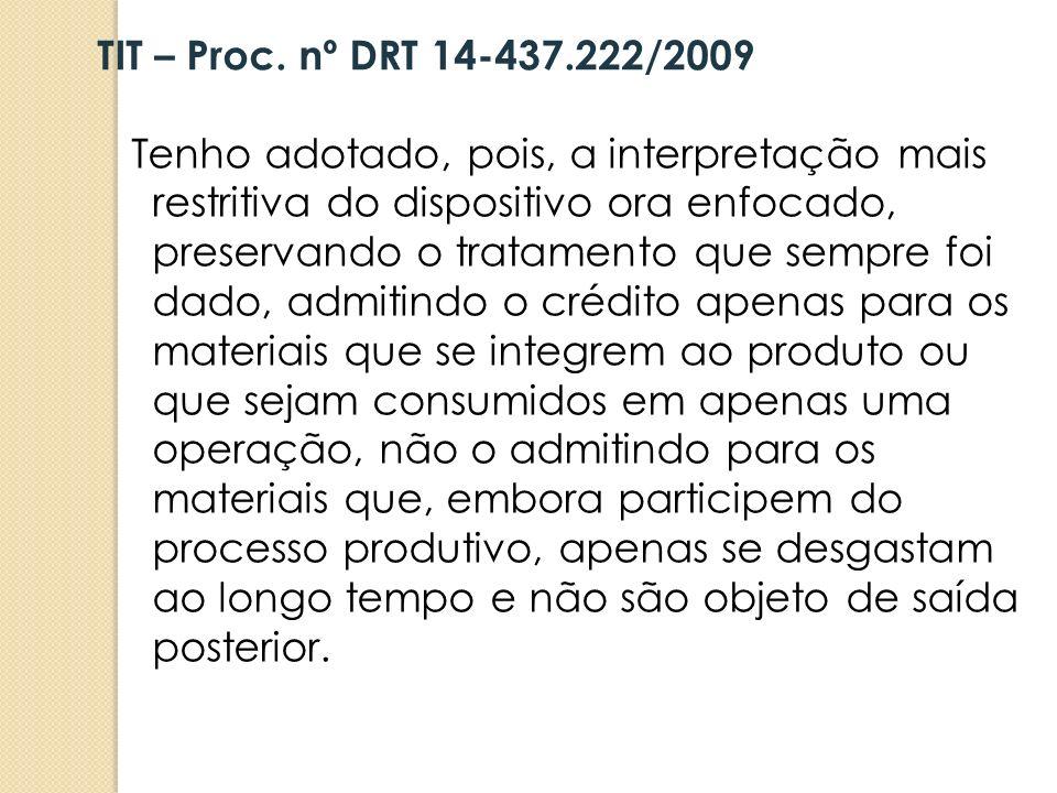 TIT – Proc. nº DRT 14-437.222/2009