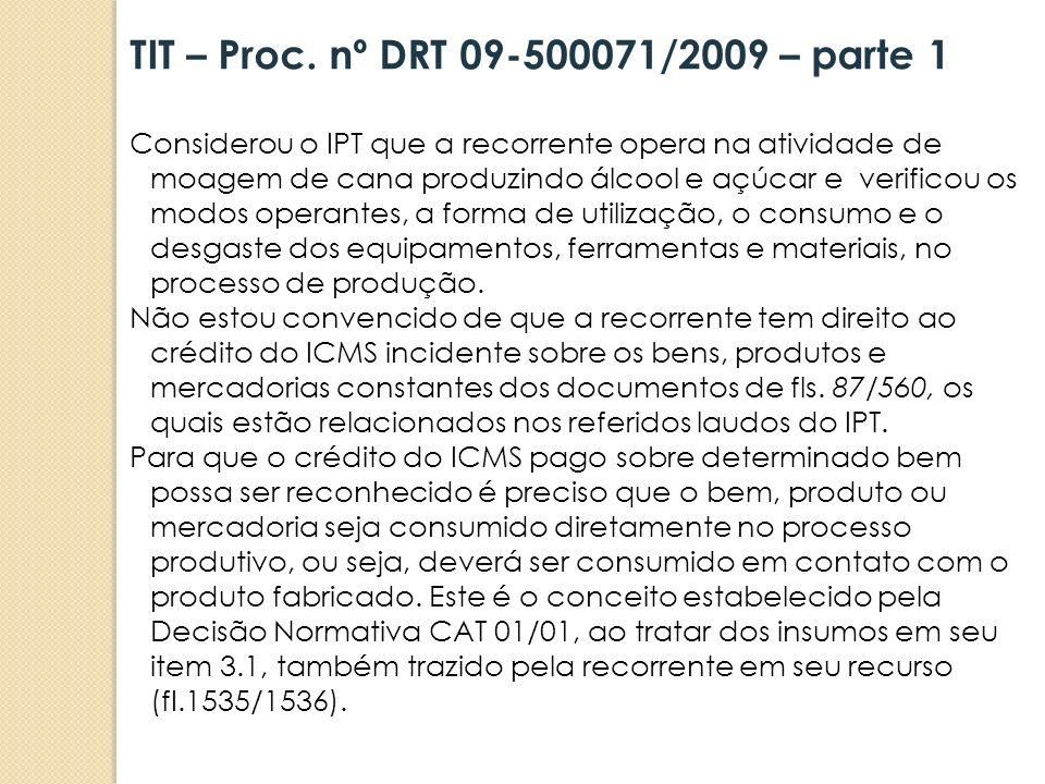 TIT – Proc. nº DRT 09-500071/2009 – parte 1