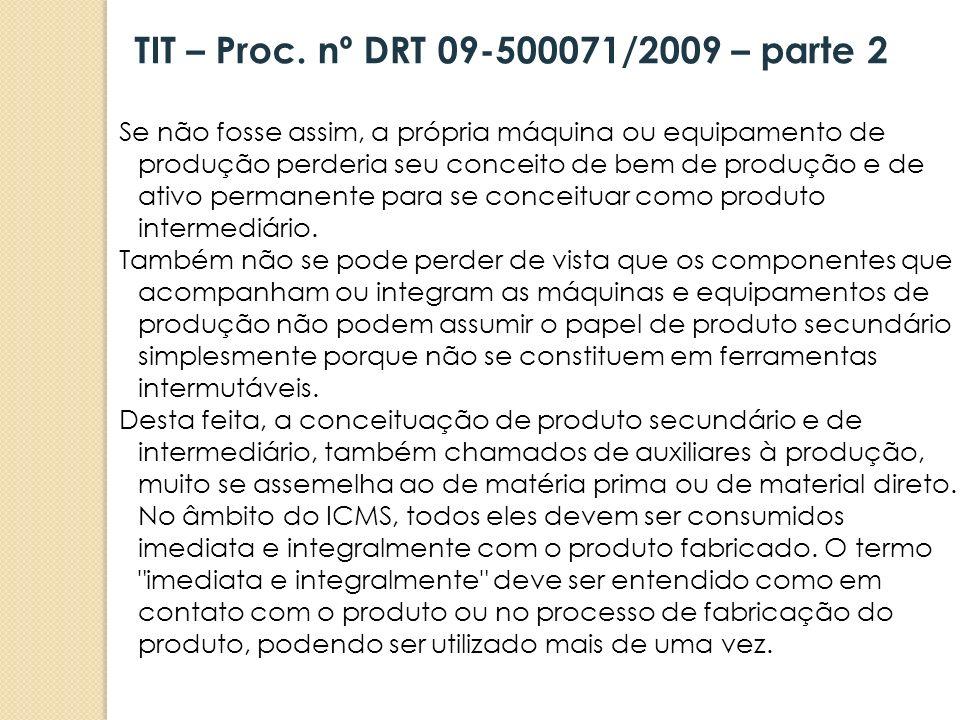 TIT – Proc. nº DRT 09-500071/2009 – parte 2