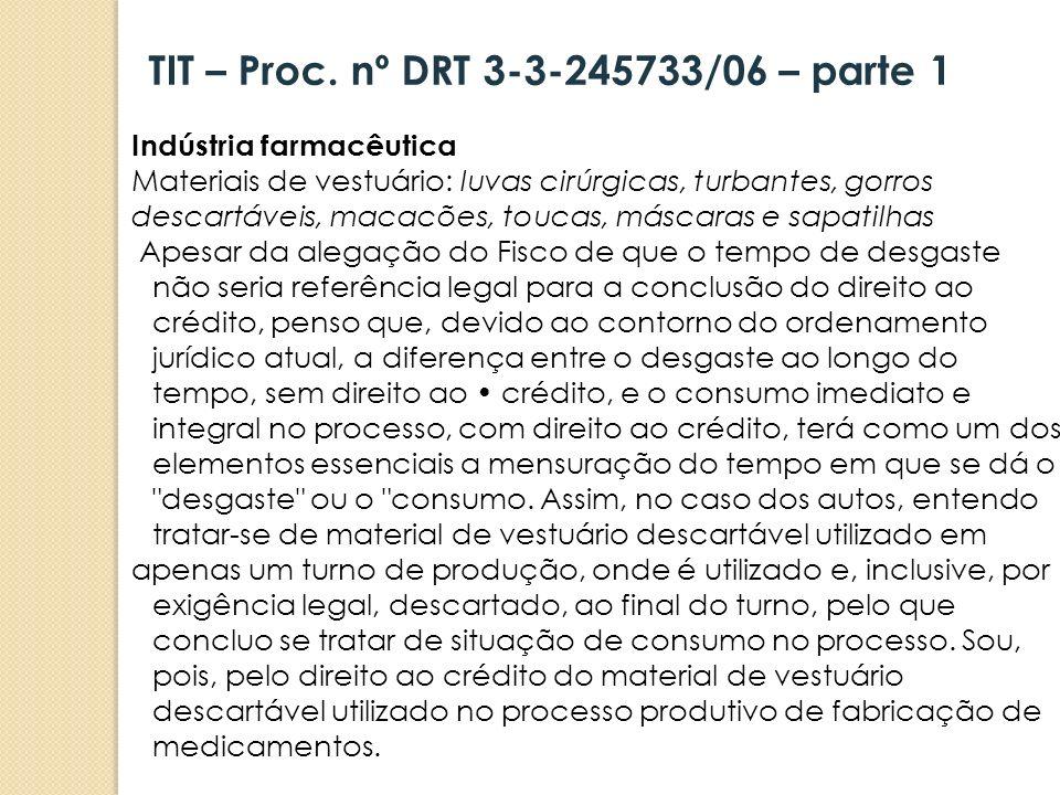 TIT – Proc. nº DRT 3-3-245733/06 – parte 1