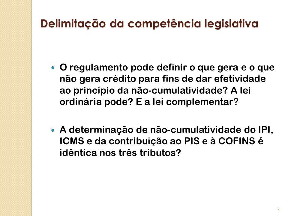 Delimitação da competência legislativa