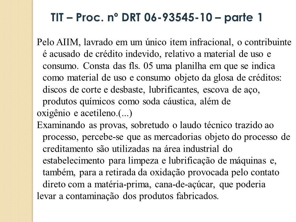 TIT – Proc. nº DRT 06-93545-10 – parte 1
