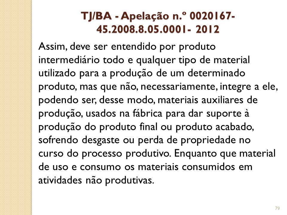 TJ/BA - Apelação n.º 0020167-45.2008.8.05.0001- 2012