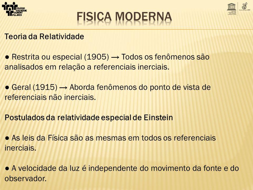 FISICA MODERNA Teoria da Relatividade