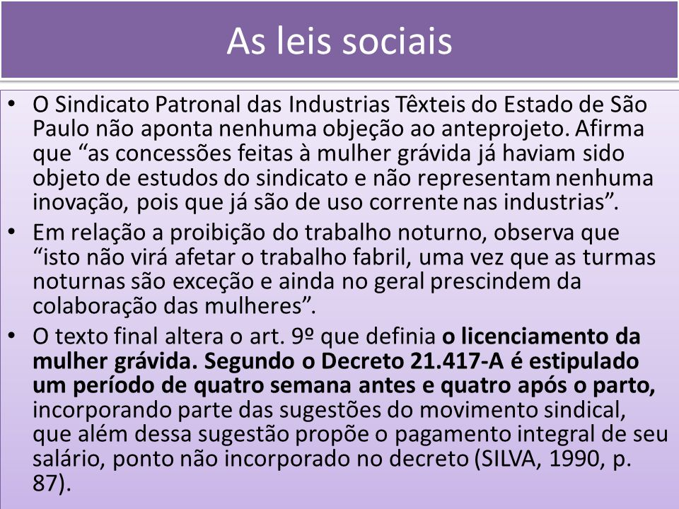 As leis sociais