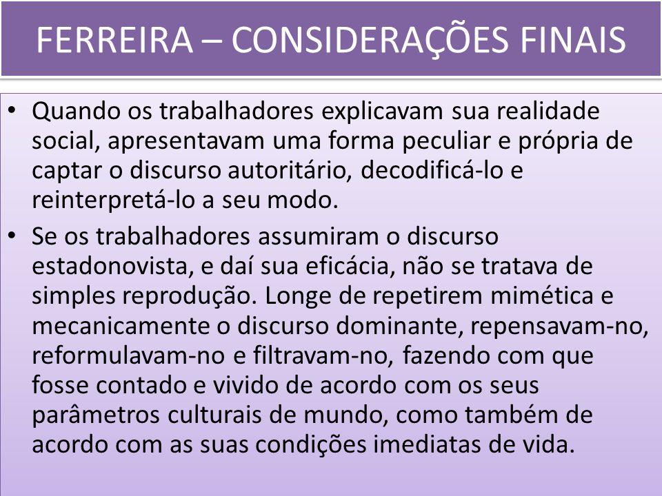 FERREIRA – CONSIDERAÇÕES FINAIS