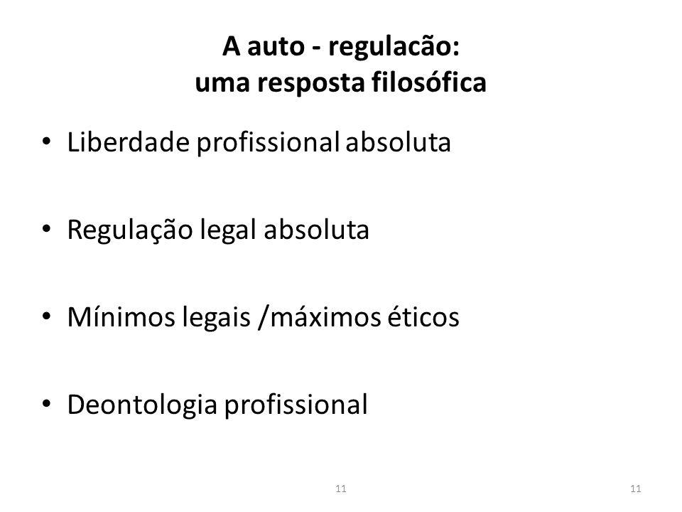 A auto - regulacão: uma resposta filosófica