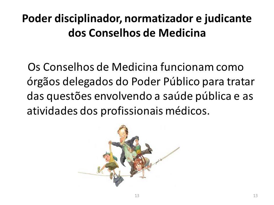 Poder disciplinador, normatizador e judicante dos Conselhos de Medicina