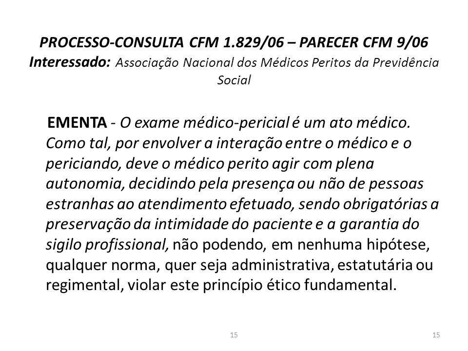 PROCESSO-CONSULTA CFM 1