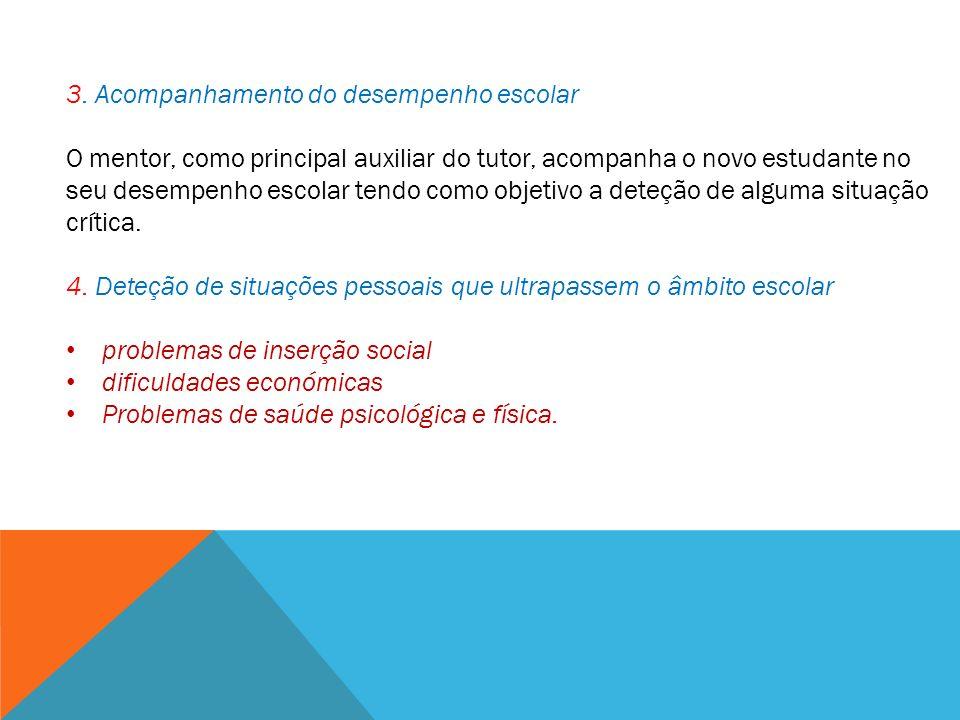 3. Acompanhamento do desempenho escolar