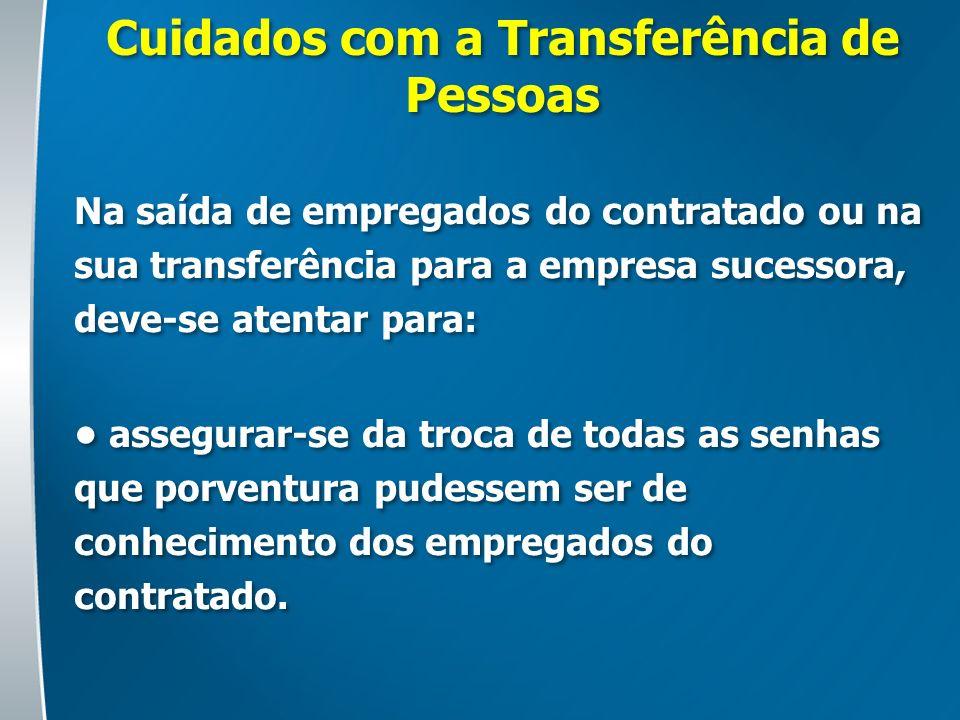 Cuidados com a Transferência de Pessoas