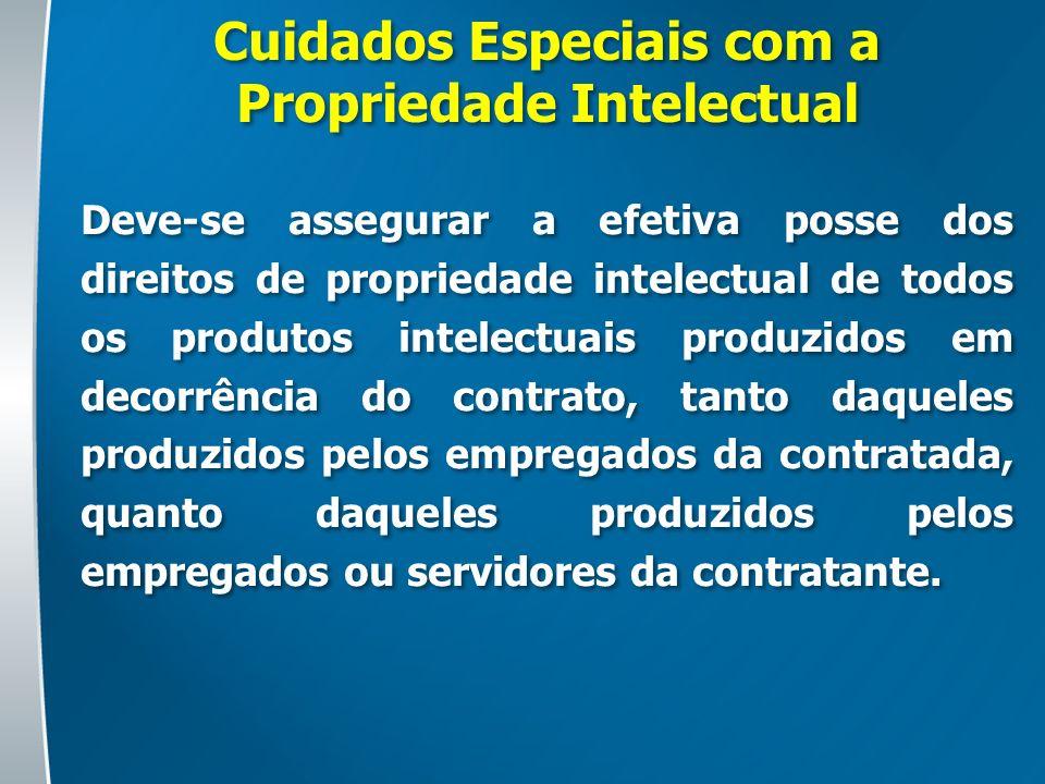 Cuidados Especiais com a Propriedade Intelectual