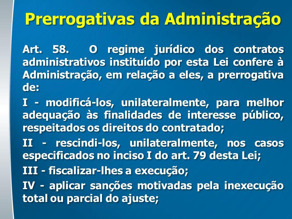 Prerrogativas da Administração