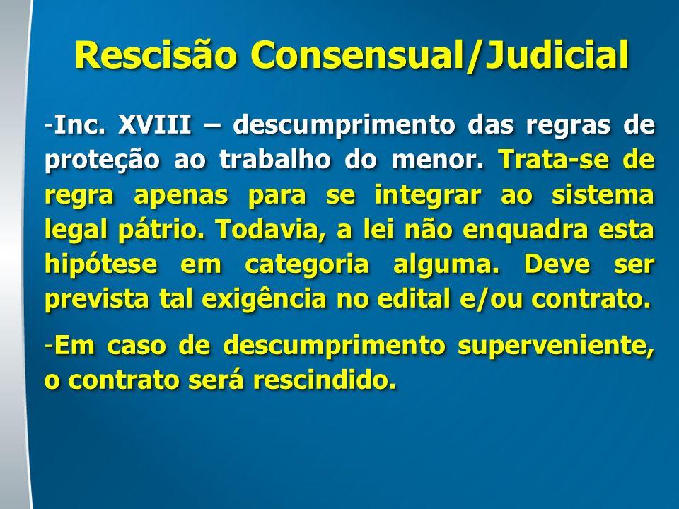 Rescisão Consensual/Judicial