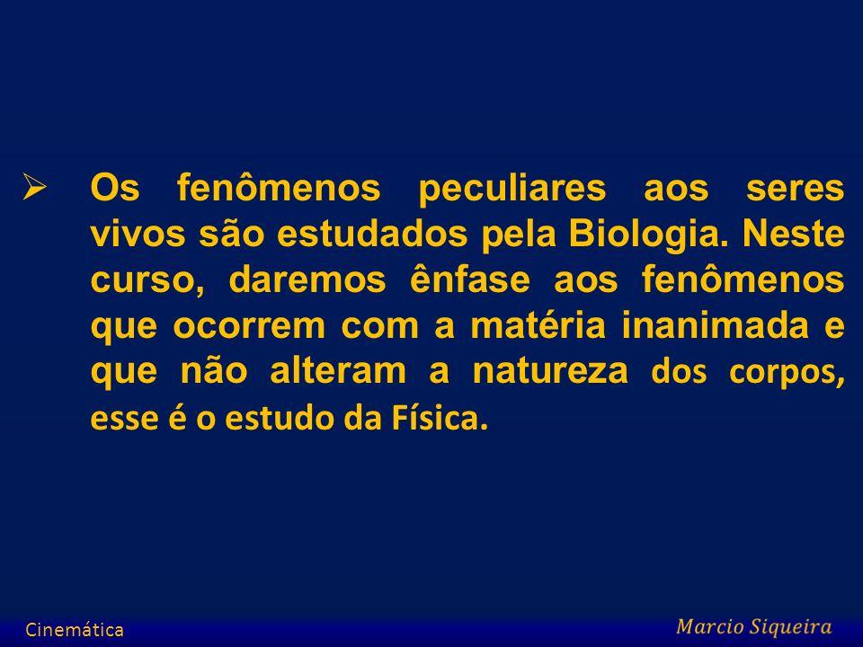 Os fenômenos peculiares aos seres vivos são estudados pela Biologia