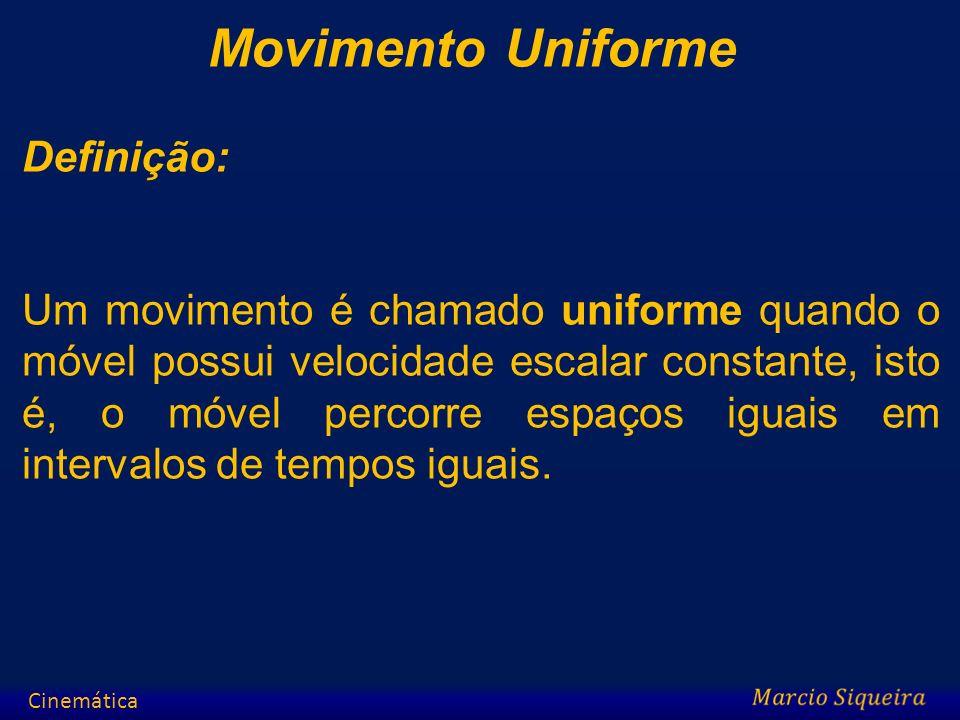 Movimento Uniforme Definição: