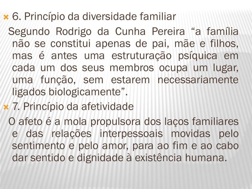 6. Princípio da diversidade familiar