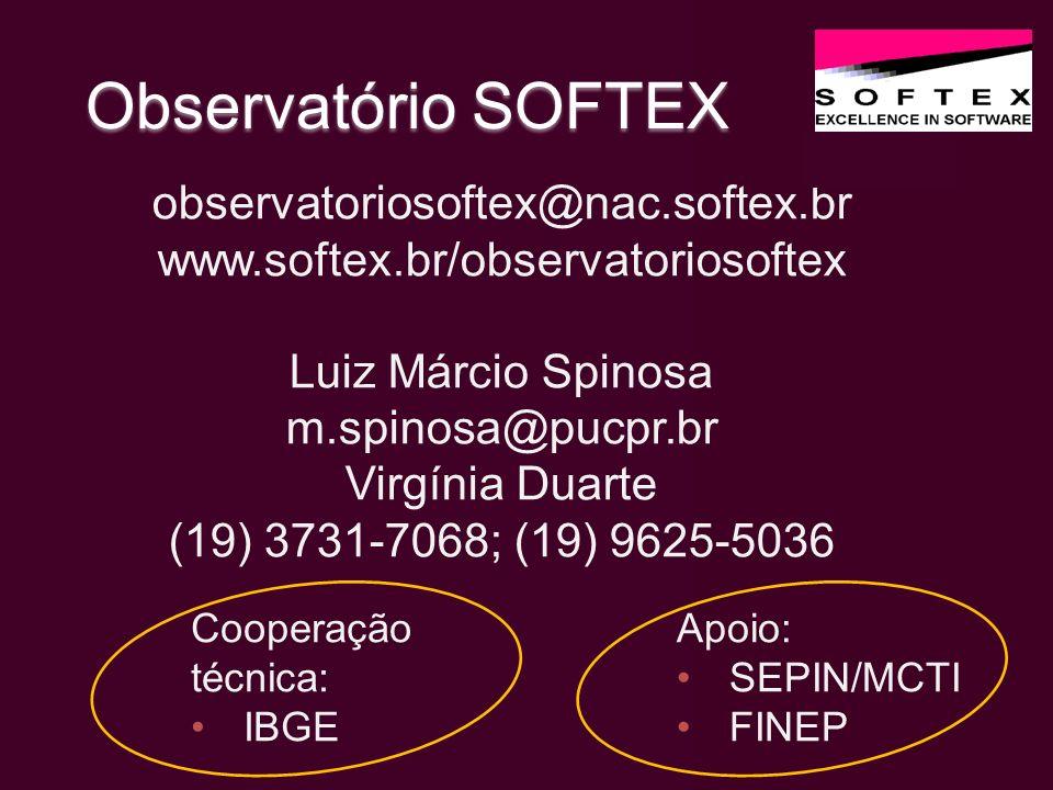 Observatório SOFTEX observatoriosoftex@nac.softex.br