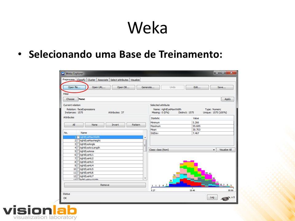 Weka Selecionando uma Base de Treinamento: