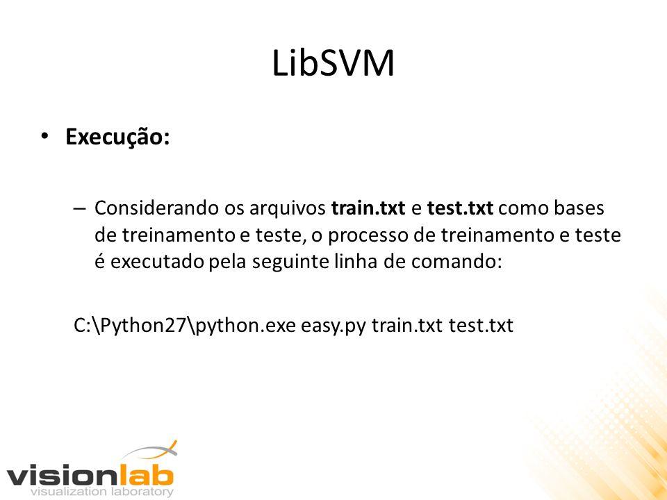 LibSVM Execução: