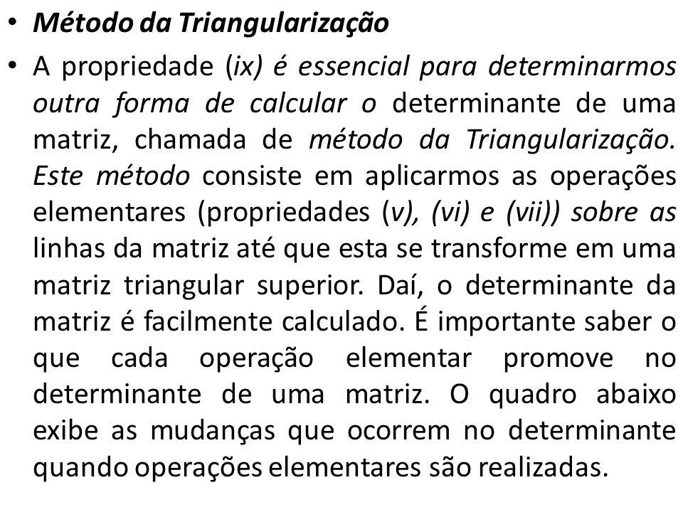 Método da Triangularização