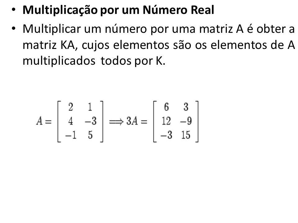 Multiplicação por um Número Real