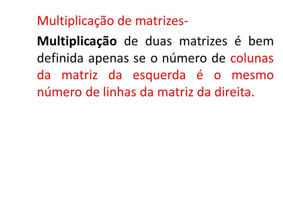 Multiplicação de matrizes-