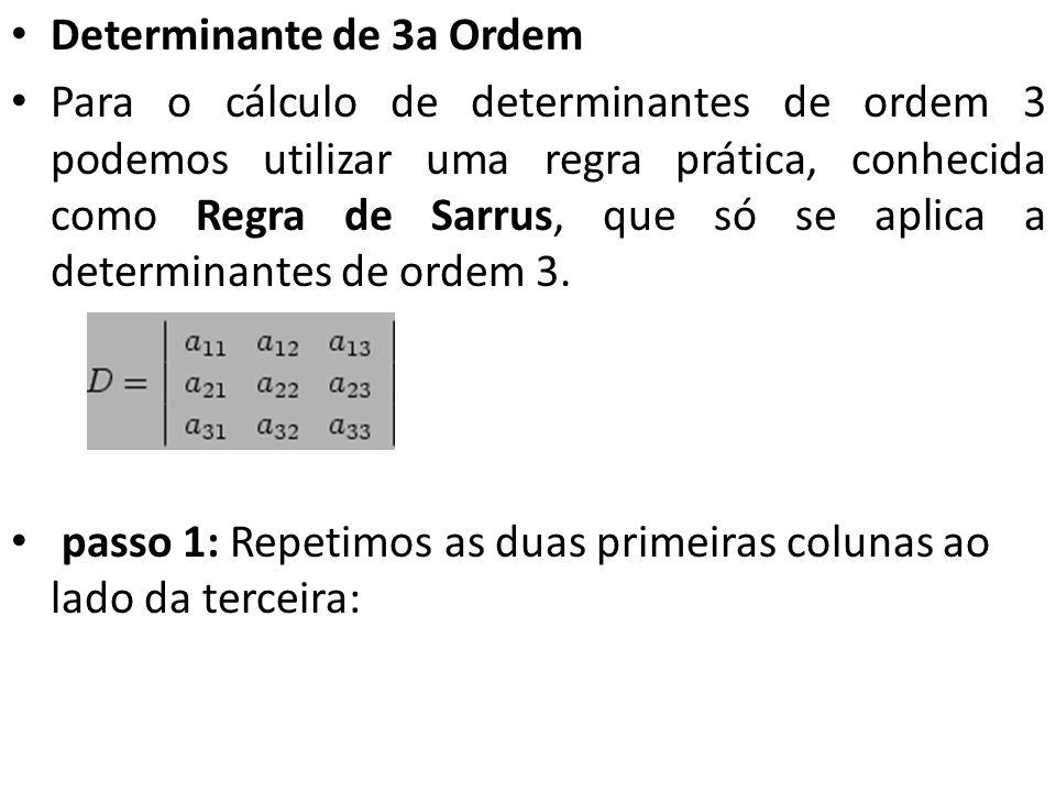 Determinante de 3a Ordem