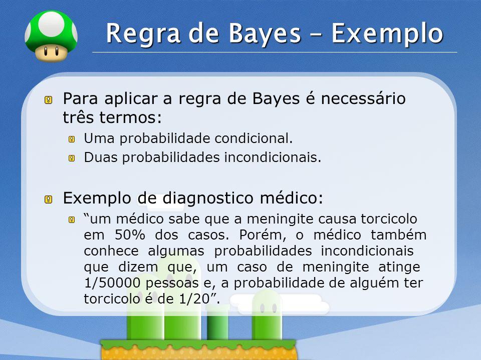 Regra de Bayes – Exemplo