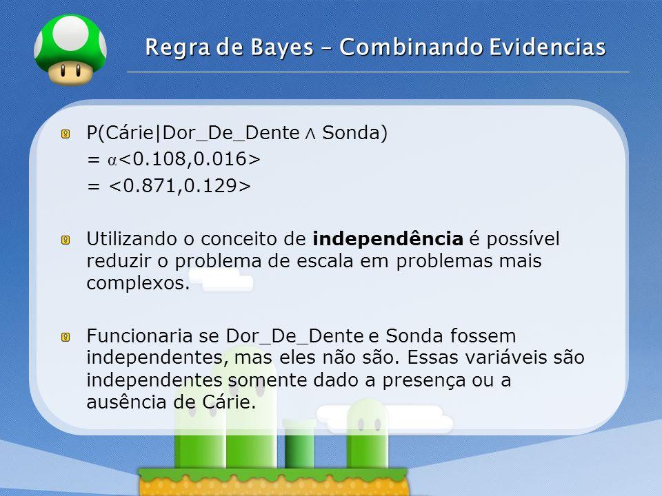 Regra de Bayes – Combinando Evidencias