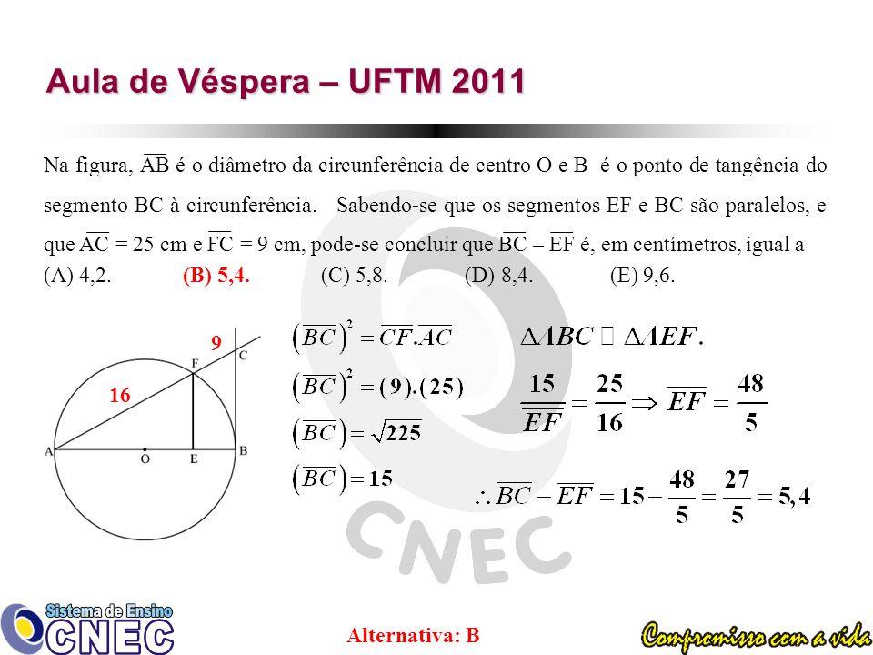 Aula de Véspera – UFTM 2011