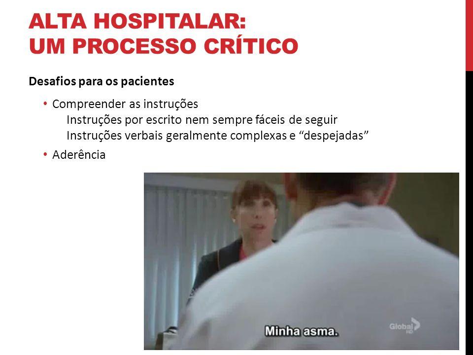 alta hospitalar: um processo crítico