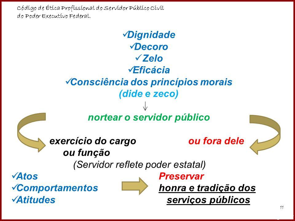 Consciência dos princípios morais nortear o servidor público