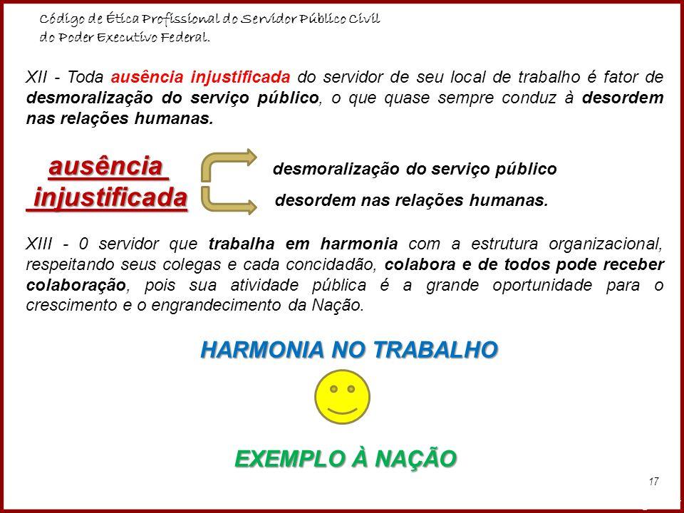 ausência desmoralização do serviço público