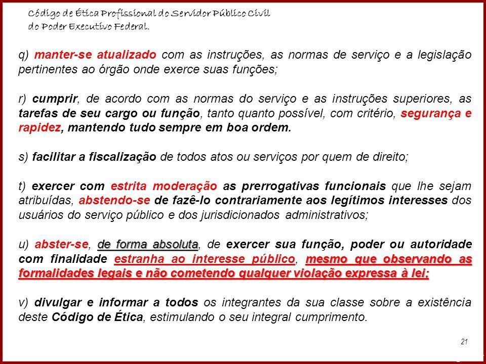 Código de Ética Profissional do Servidor Público Civil
