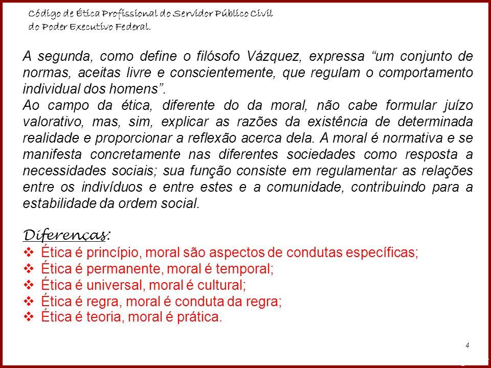 Diferenças: Ética é princípio, moral são aspectos de