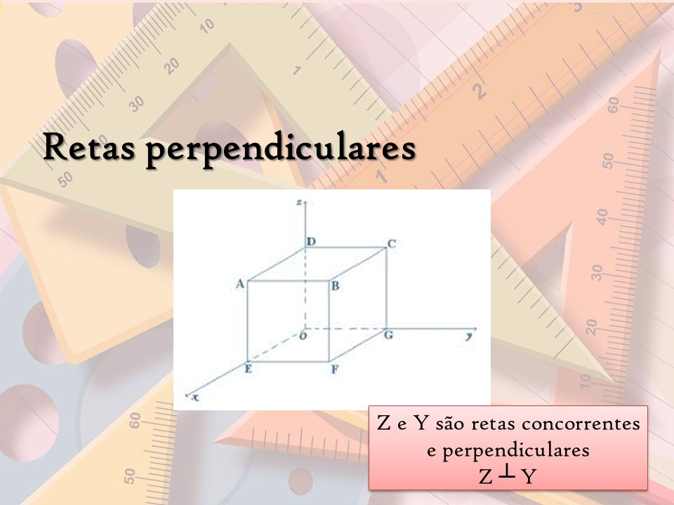 Z e Y são retas concorrentes e perpendiculares