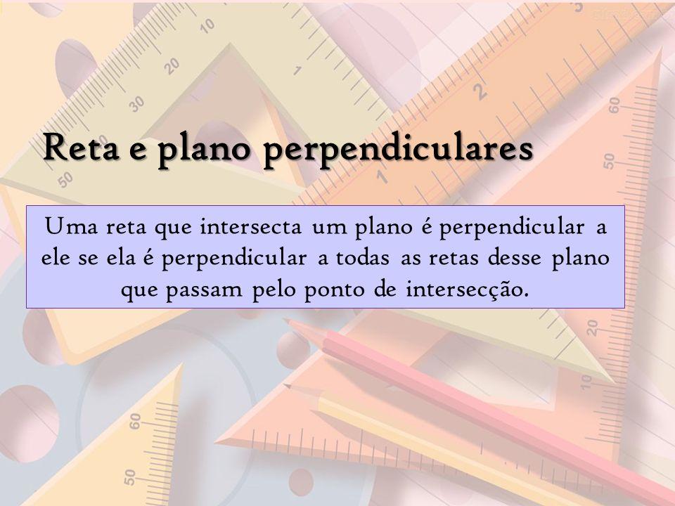 Reta e plano perpendiculares