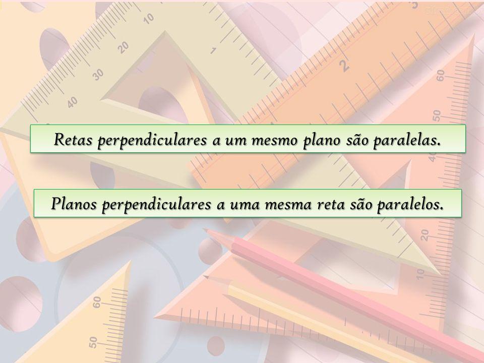Retas perpendiculares a um mesmo plano são paralelas.