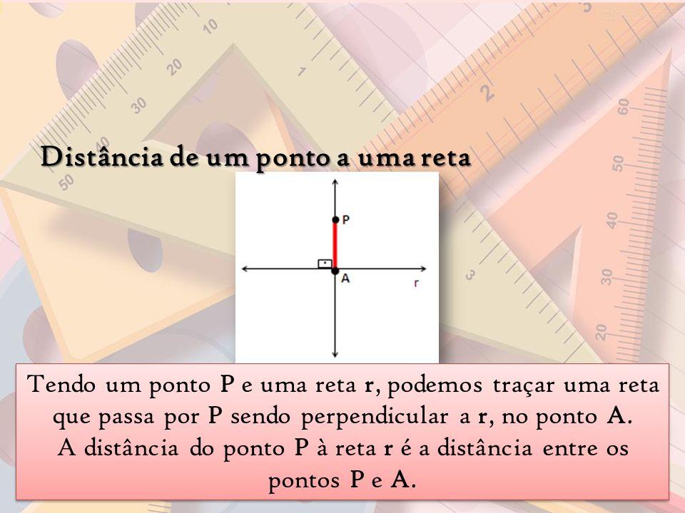 A distância do ponto P à reta r é a distância entre os pontos P e A.