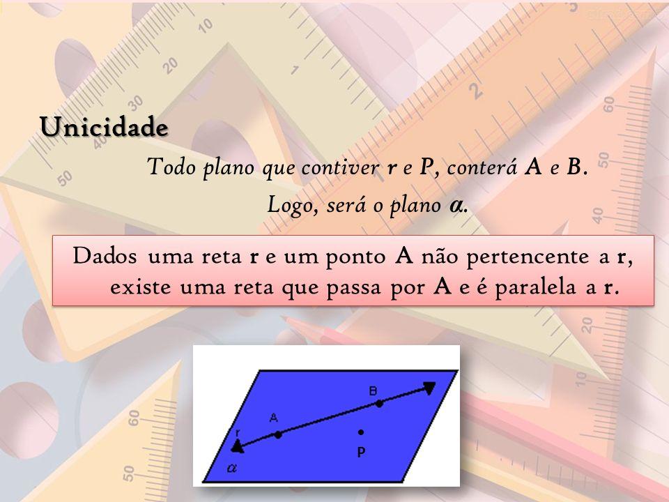 Todo plano que contiver r e P, conterá A e B.