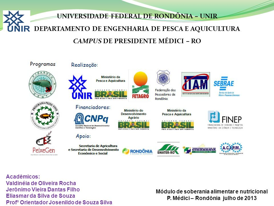 UNIVERSIDADE FEDERAL DE RONDÔNIA – UNIR