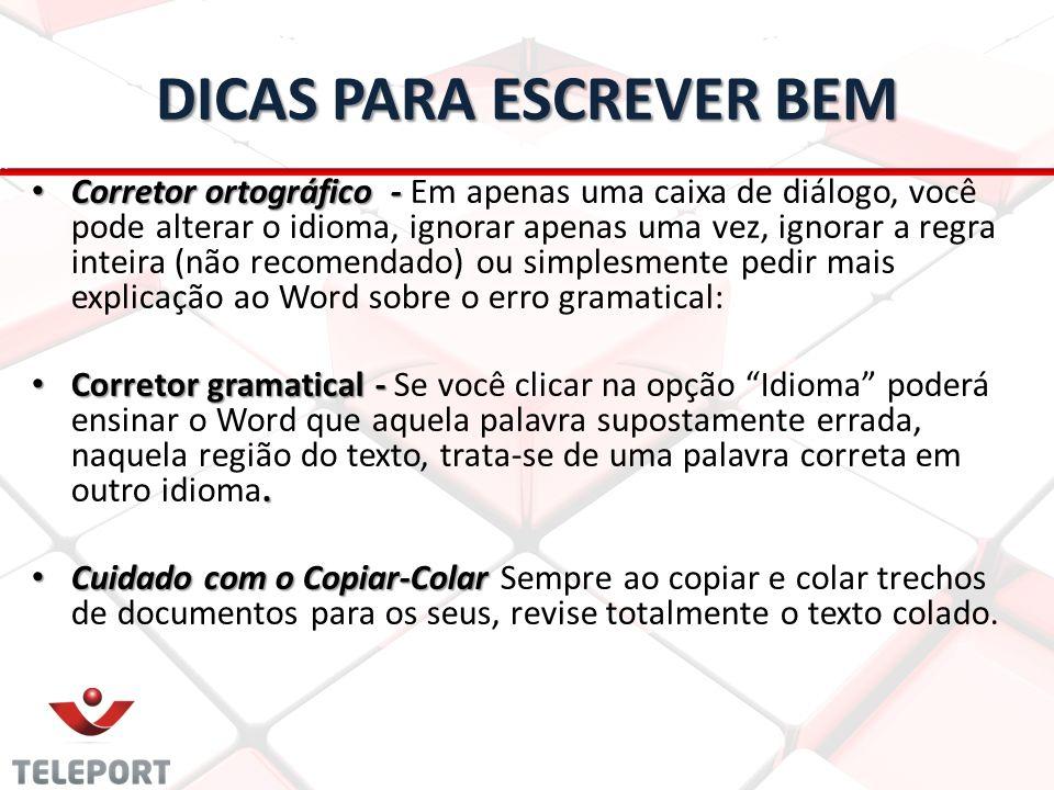 DICAS PARA ESCREVER BEM