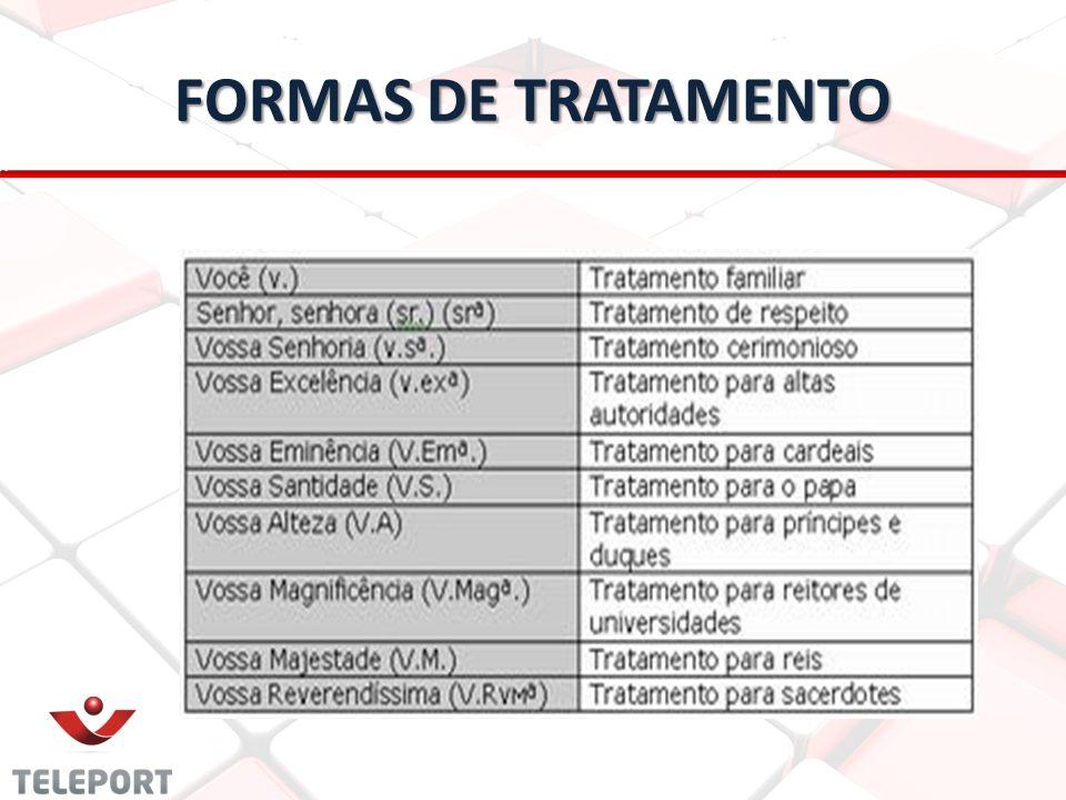 FORMAS DE TRATAMENTO