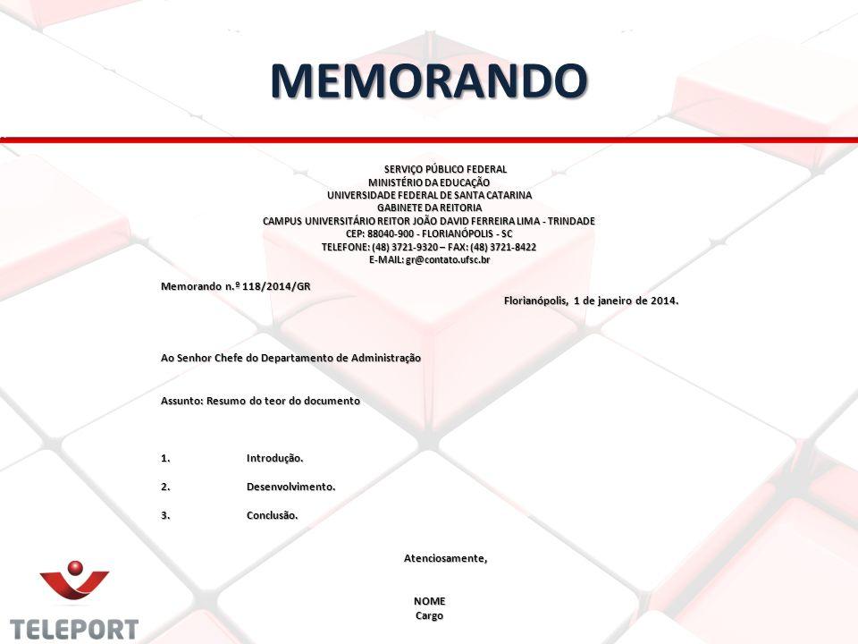 MEMORANDO Memorando n.º 118/2014/GR