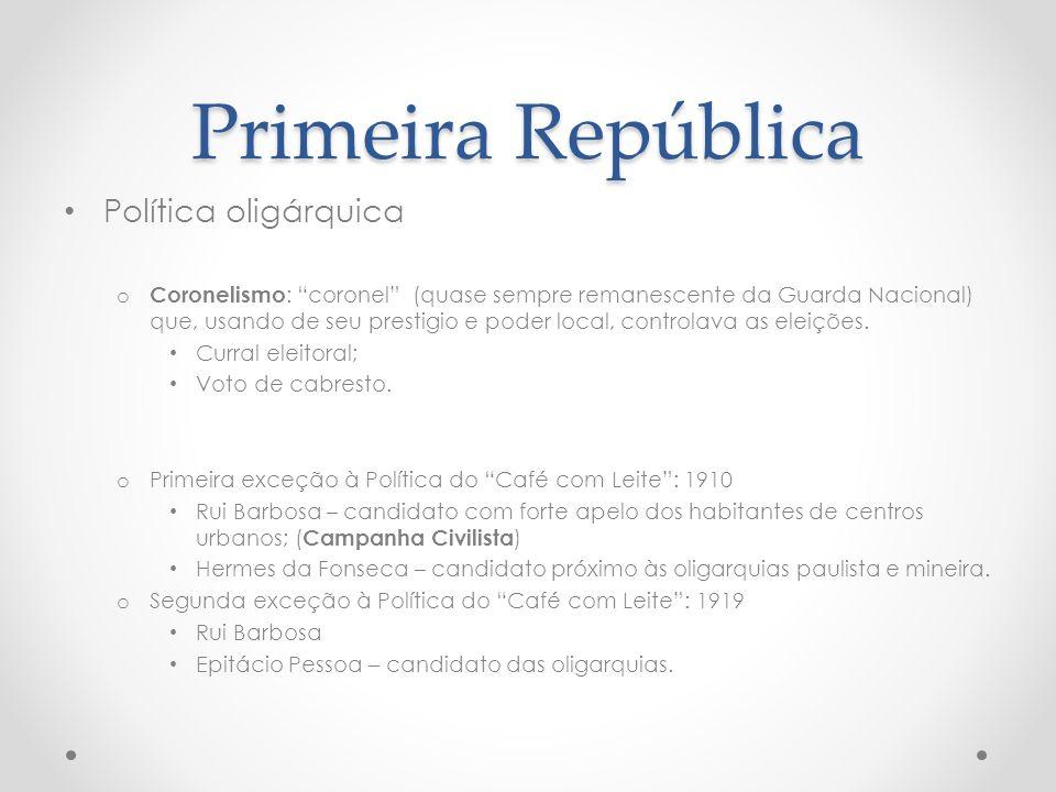 Primeira República Política oligárquica