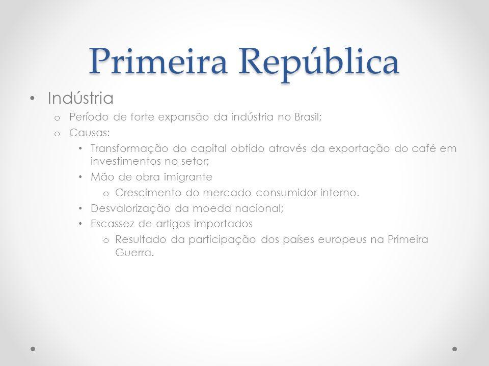 Primeira República Indústria