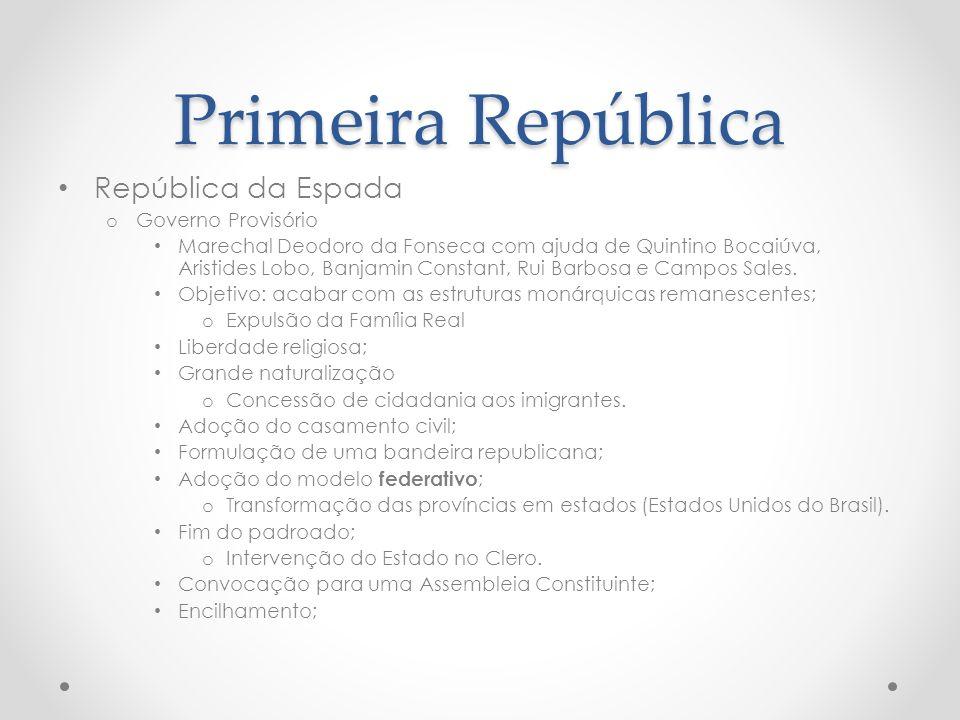 Primeira República República da Espada Governo Provisório