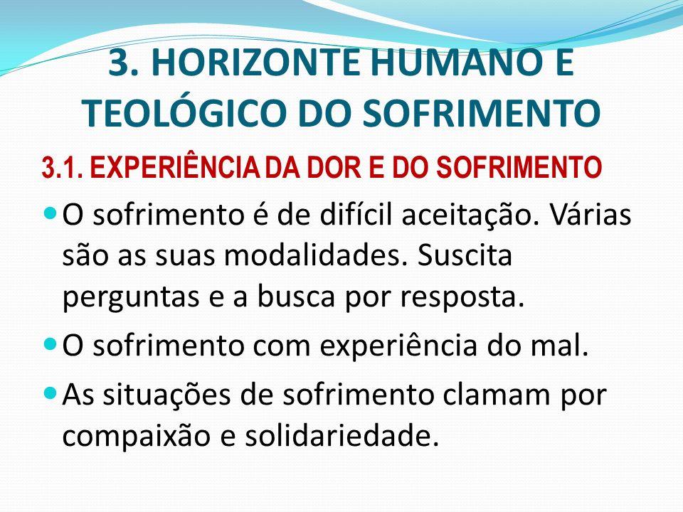 3. HORIZONTE HUMANO E TEOLÓGICO DO SOFRIMENTO